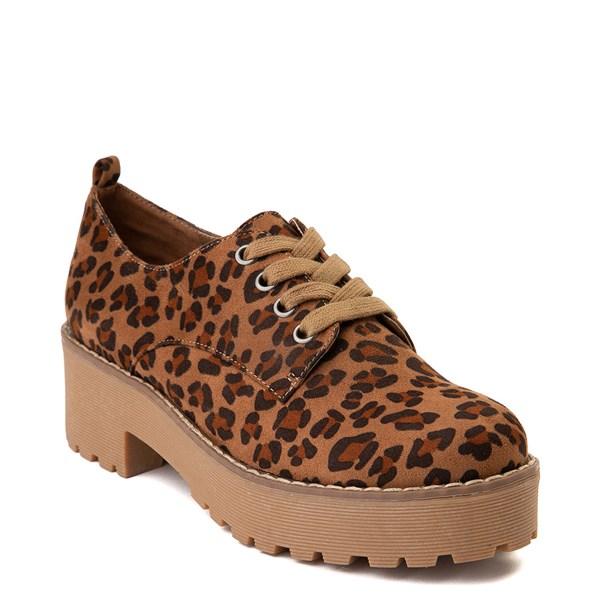 alternate view Womens Dirty Laundry Marz Oxford Casual Shoe - LeopardALT1