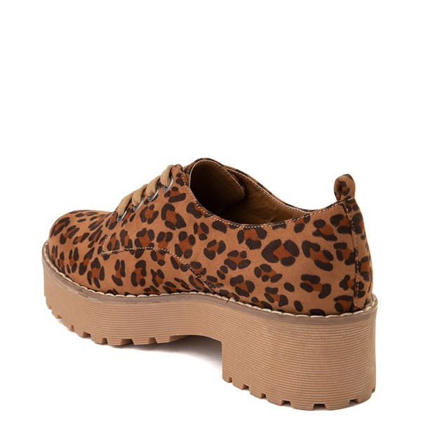 alternate view Womens Dirty Laundry Marz Oxford Casual Shoe - LeopardALT2