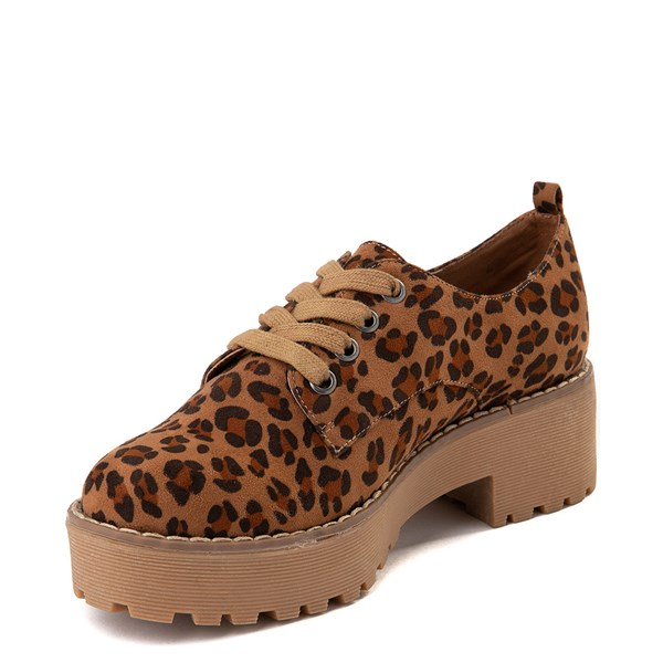 alternate view Womens Dirty Laundry Marz Oxford Casual Shoe - LeopardALT3