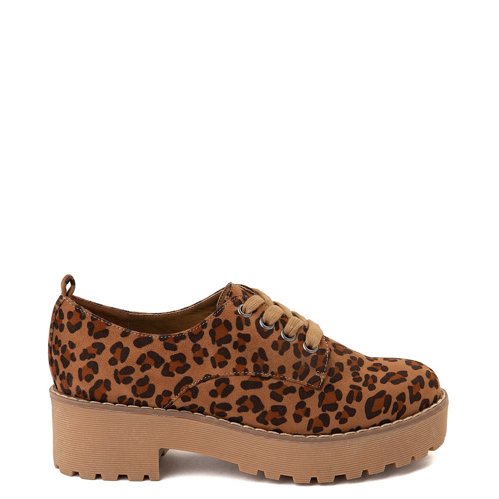 Womens Dirty Laundry Marz Oxford Casual Shoe - Leopard