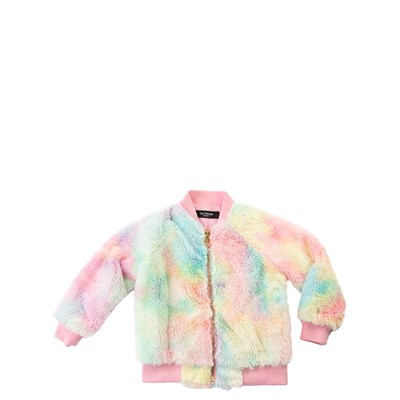 Main view of Fur Bomber Jacket - Little Kid