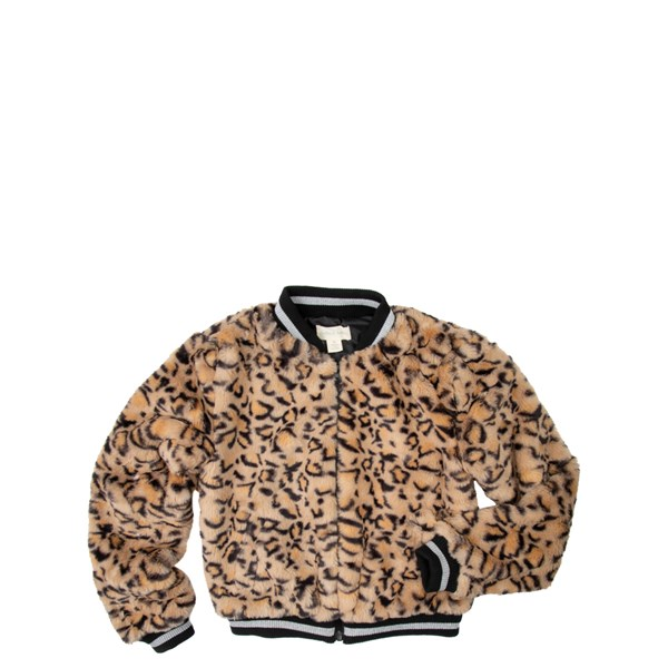 Fur Bomber Jacket - Little Kid / Big Kid - Leopard
