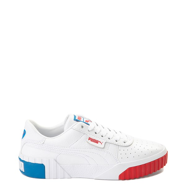 Womens Puma Cali Fashion Athletic Shoe - White / Red / Blue