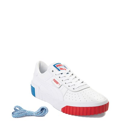 Alternate view of Womens Puma Cali Fashion Athletic Shoe - White / Red / Blue