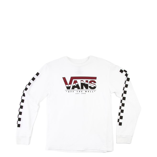 Default view of Vans Checkered Long Sleeve Tee - Little Kid - White