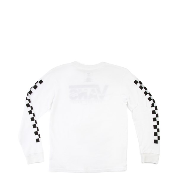 alternate view Vans Checkered Long Sleeve Tee - Little Kid - WhiteALT1