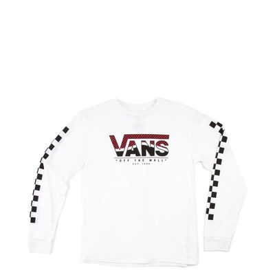 Main view of Vans Checkered Long Sleeve Tee - Little Kid - White
