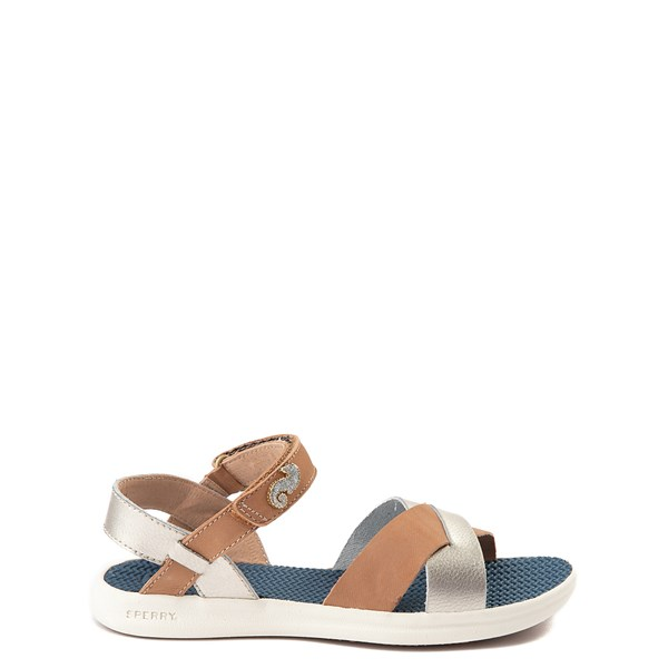 Sperry Top-Sider Spring Tide Sandal - Little Kid / Big Kid - Tan / Silver