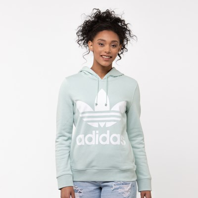 Main view of Womens adidas Trefoil Hoodie - Vapor Green