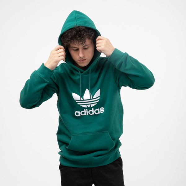 alternate view Mens adidas Trefoil Hoodie - Noble GreenALT1