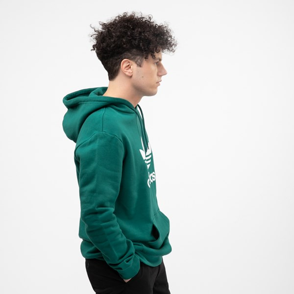 alternate view Mens adidas Trefoil Hoodie - Noble GreenALT4