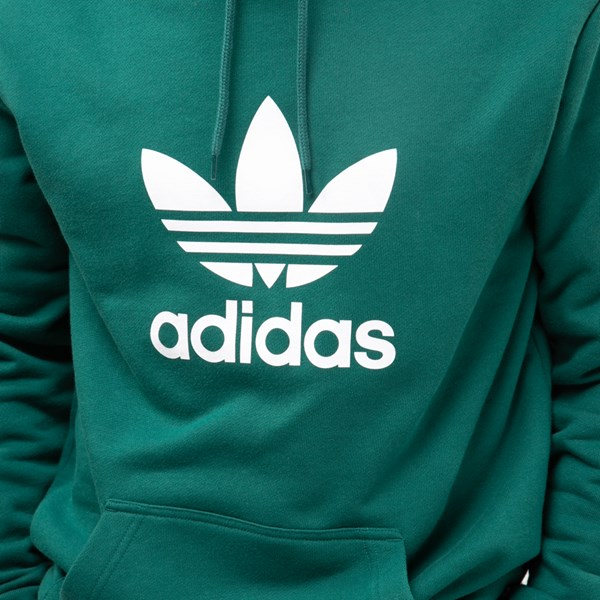 alternate view Mens adidas Trefoil Hoodie - Noble GreenALT5