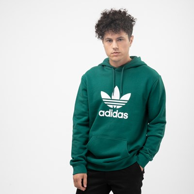 Main view of Mens adidas Trefoil Hoodie - Noble Green