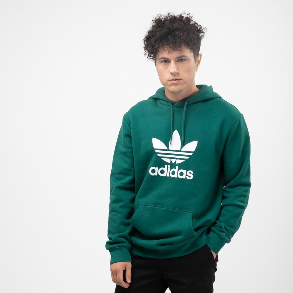 Mens adidas Trefoil Hoodie - Noble Green