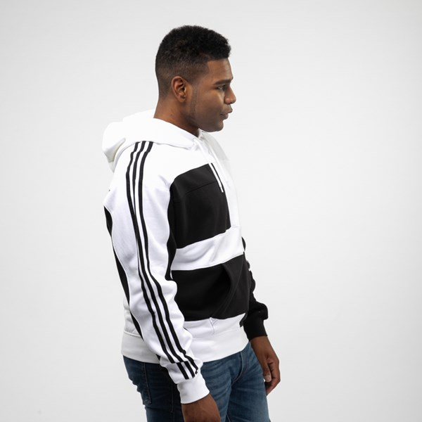 alternate view Mens adidas Asymmetrical Color-Block HoodieALT4