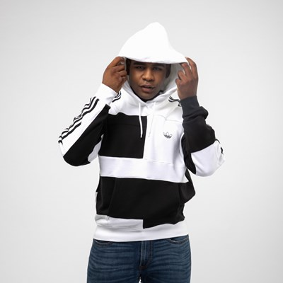 Alternate view of Mens adidas Asymmetrical Color-Block Hoodie