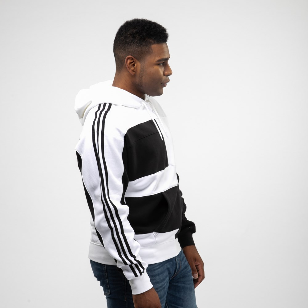 Mens adidas Asymmetrical Color Block Hoodie