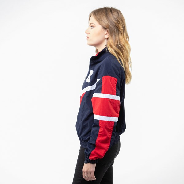 alternate view Womens Fila Jolie Windbreaker Jacket - Navy / Red / WhiteALT2