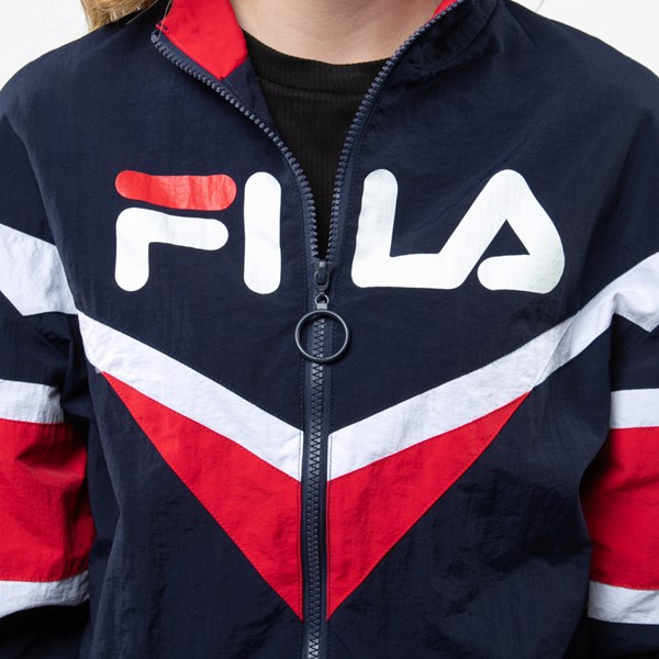 alternate view Womens Fila Jolie Windbreaker Jacket - Navy / Red / WhiteALT4
