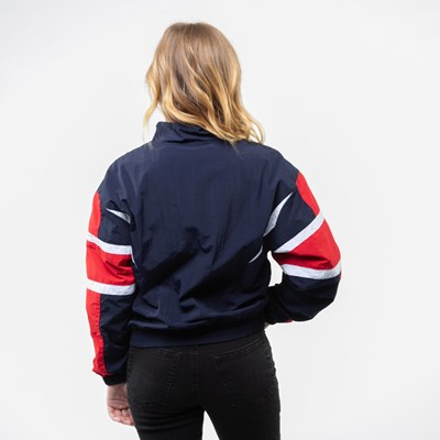 Alternate view of Womens Fila Jolie Windbreaker Jacket - Navy / Red / White