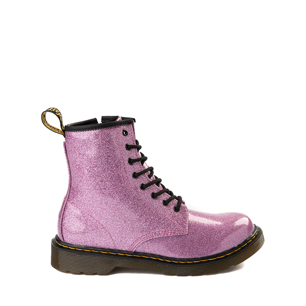 Main view of Dr. Martens 1460 8-Eye Glitter Boot - Little Kid / Big Kid - Pink