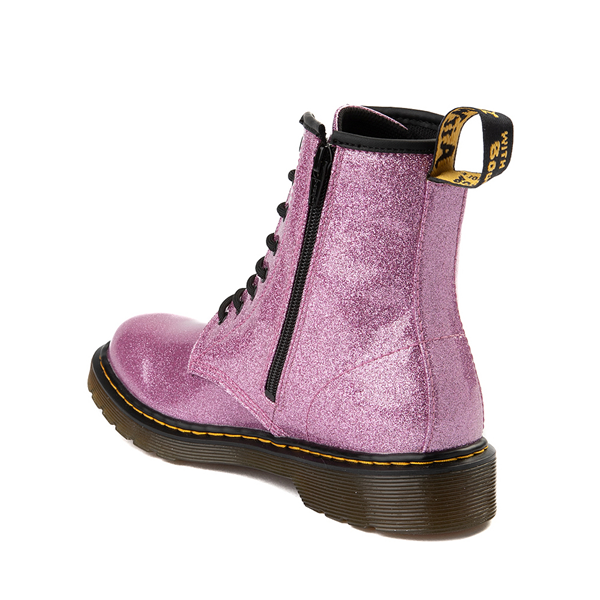 alternate view Dr. Martens 1460 8-Eye Glitter Boot - Little Kid / Big Kid - PinkALT1