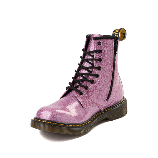 alternate view Dr. Martens 1460 8-Eye Glitter Boot - Little Kid / Big Kid - PinkALT2