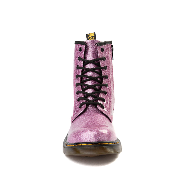 alternate view Dr. Martens 1460 8-Eye Glitter Boot - Little Kid / Big Kid - PinkALT4