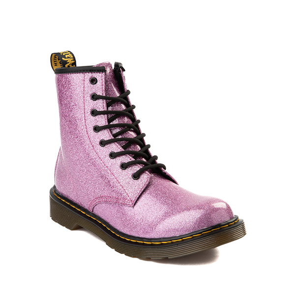 alternate view Dr. Martens 1460 8-Eye Glitter Boot - Little Kid / Big Kid - PinkALT5