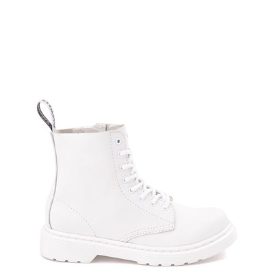 Main view of Dr. Martens 1460 Pascal 8-Eye Boot - Girls Little Kid / Big Kid - White Monochrome