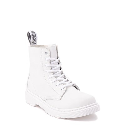 Alternate view of Dr. Martens 1460 Pascal 8-Eye Boot - Girls Little Kid / Big Kid - White Monochrome