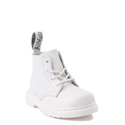 Alternate view of Dr. Martens 1460 Pascal 4-Eye Boot - Baby / Toddler - White Monochrome