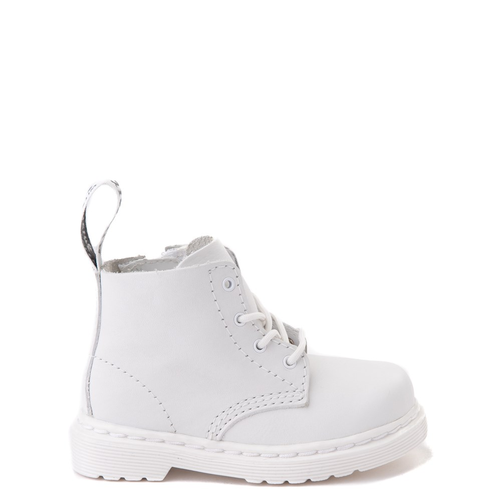 Dr. Martens 1460 Pascal 4-Eye Boot - Baby / Toddler - White Monochrome