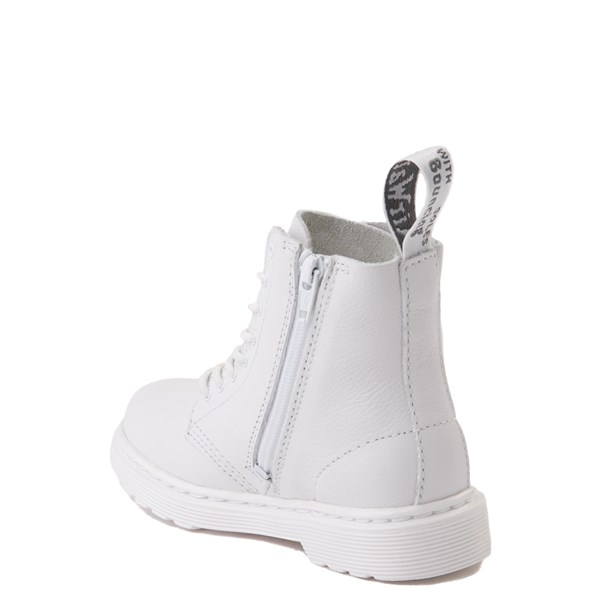 alternate view Dr. Martens 1460 Pascal 8-Eye Boot - Toddler - White MonochromeALT2