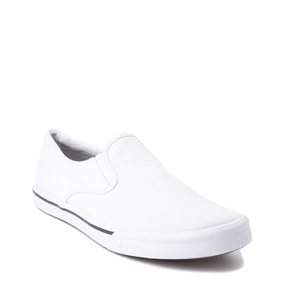 Alternate view of Mens Sperry Top-Sider Striper II Slip-On Casual Shoe - White