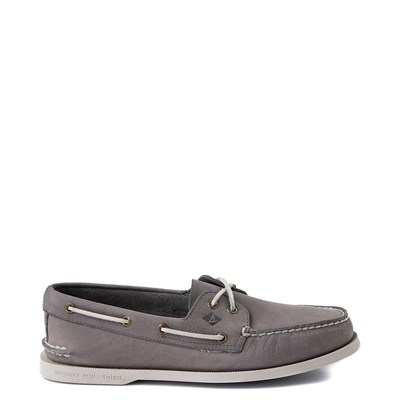 Main view of Mens Sperry Top-Sider Authentic Original 2-Eye Boat Shoe - Gray