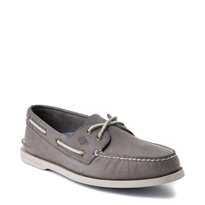 Alternate view of Mens Sperry Top-Sider Authentic Original 2-Eye Boat Shoe - Gray