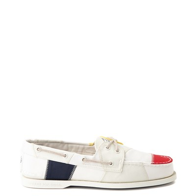 Main view of Mens Sperry Top-Sider Authentic Original Bionic Boat Shoe - White / Multi