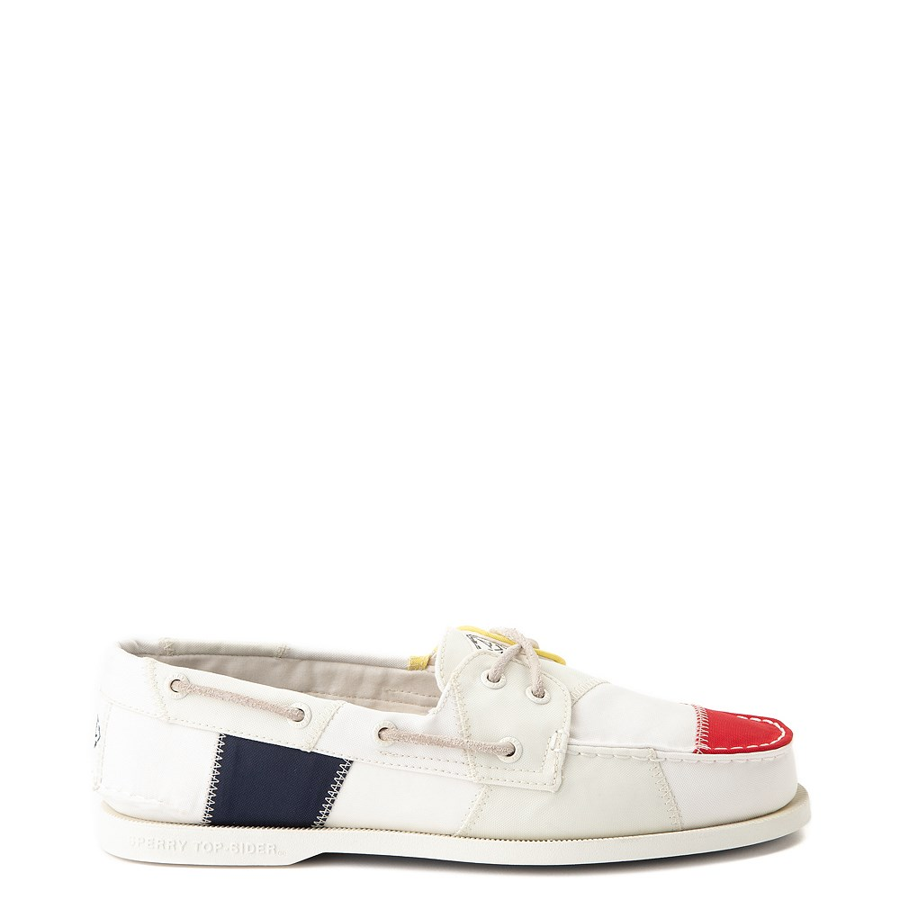 Mens Sperry Top-Sider Authentic Original Bionic Boat Shoe - White / Multi