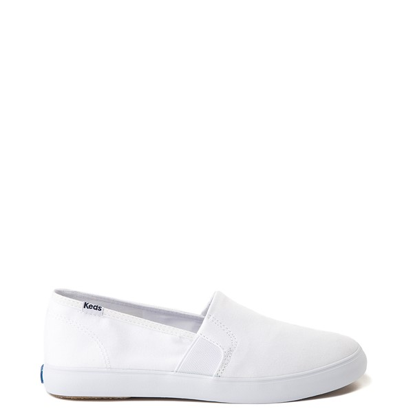 Womens Keds Clipper Slip On Casual Shoe - White