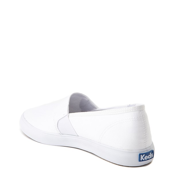 alternate view Womens Keds Clipper Slip On Casual Shoe - WhiteALT1