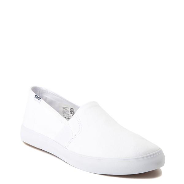 alternate view Womens Keds Clipper Slip On Casual Shoe - WhiteALT5