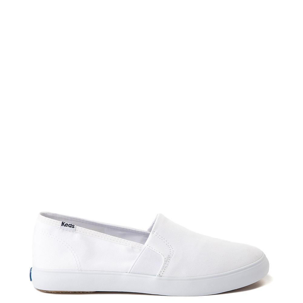 Womens Keds Clipper Slip On Casual Shoe - White