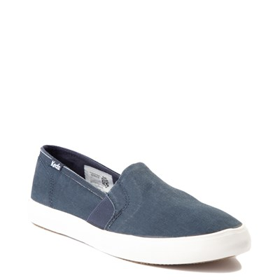 Alternate view of Womens Keds Clipper Slip On Casual Shoe - Navy