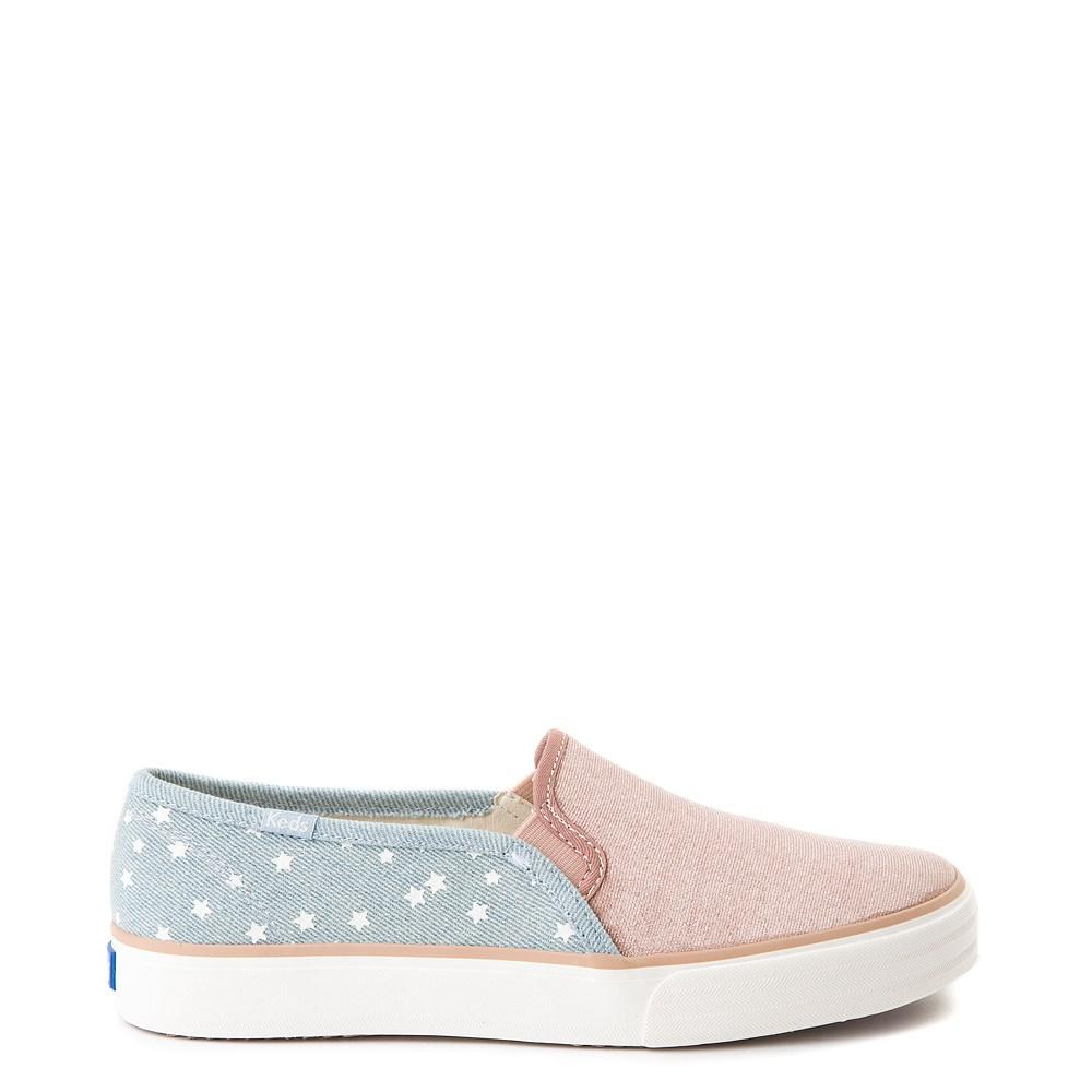 Womens Keds Double Decker Velvet/Denim Slip On Casual Shoe