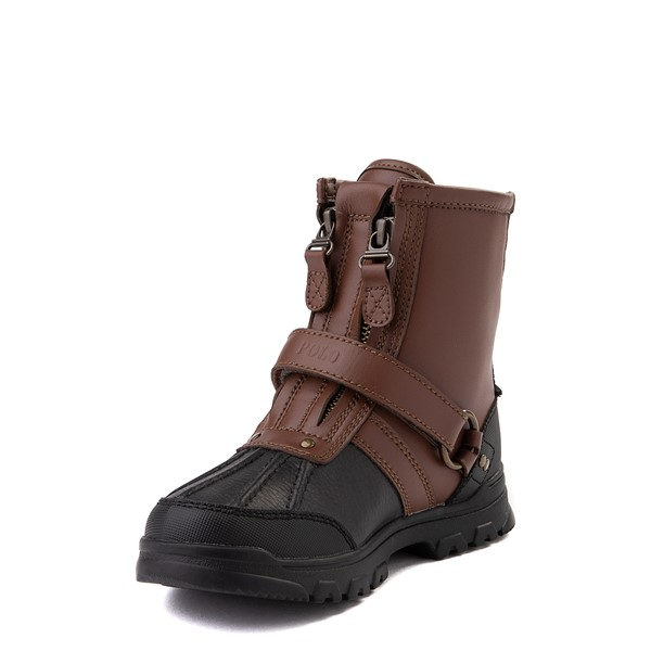 alternate view Conquered Boot by Polo Ralph Lauren - Little Kid - Brown / BlackALT2