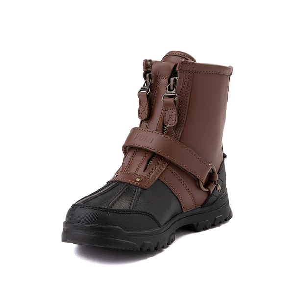 alternate view Conquered Boot by Polo Ralph Lauren - Big Kid - Brown / BlackALT2