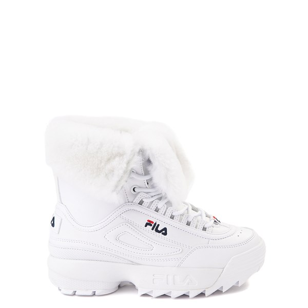 Fila Disruptor Shearling Boot - Little Kid - White