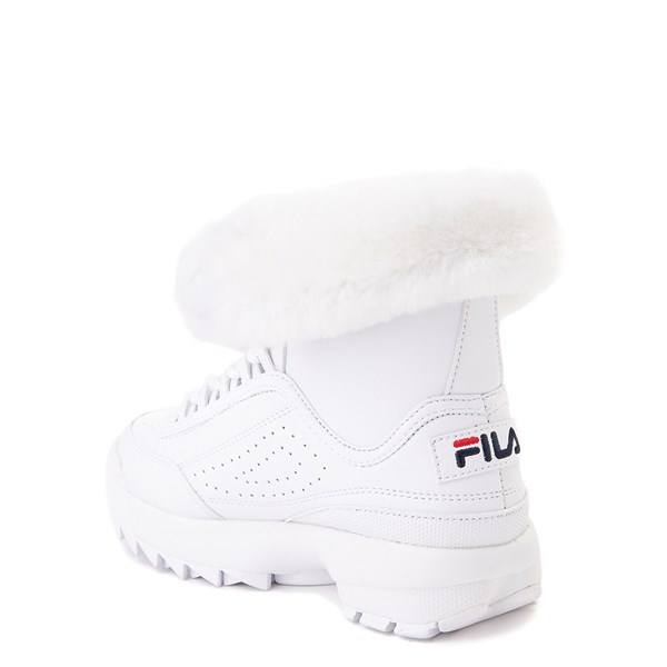 alternate view Fila Disruptor Shearling Boot - Little Kid - WhiteALT2