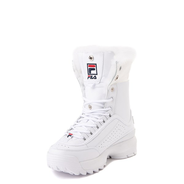 alternate view Fila Disruptor Shearling Boot - Little Kid - WhiteALT3